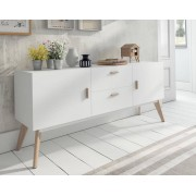 items-france PASADENA XL - Buffet design blanc 160x40x70cm