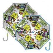 Grijze paraplu Ninja Turtles