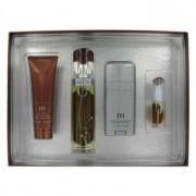 Perry Ellis M Eau De Parfum Spray + Deodorant Stick + After Shave Gel + Mini EDT Spray Gift Set Men's Fragrance 456959