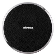 Nillkin Magic Disk 3 Leather Surface Qi Wireless Charger Pad - Black