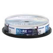 Blu-Ray disk Rewritable, 25GB, 2x, 10 buc/Cakebox, PHILIPS