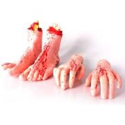 Pés e Mãos Halloween 4 Unidades