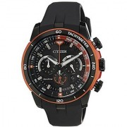 Citizen Black Leather Round Dial Quartz Watch For Men (CA4154-07E)