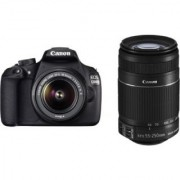 Canon Eos 1200D With 18-55Mm + 55-250Mm Lens Free8GB CARD + CARRY CASE + 2 yr Canon India Warranty