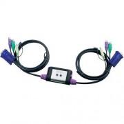 Aten Przełącznik KVM, VGA ATEN CS62AZ-AA, PS/2, 2048 x 1536 px, Ilość przełączalnych PC: 2