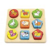 Viga NCT 0508 - forme puzzle di legno - Farm Animals Temi