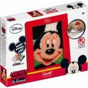 Joc creativ Mini Pixel Art Quercetti tablou Mickey Mouse 1200 piese