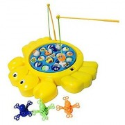 Classic Musical Electronic Fishing Rod Game Fishes Octopus With Rotating Board Party Table Game Educational Pretend Toy Set for Children Kids Boys Girls 3 4 5 Years Old