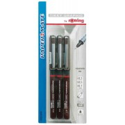 Rotring Sytlo Feutre A Pointe Fine Tikky Graphic, Lot De 3,