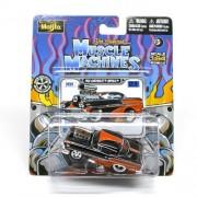 1958 Chevrolet Impala (Black & Orange) * The Original Muscle Machines * Series 12 Maisto 1:64 Scale