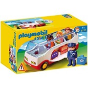 Playmobil 1 2 3 Airport Shuttle Bus, Multi Color