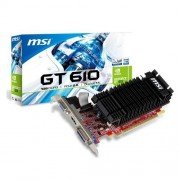 MSI N610-1GD3H/LP V1 Carte graphique Nvidia Geforce GT610 810 MHz 1024 Mo PCI-Express