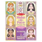 Melissa & Doug Make-a-Face Sticker Pad - Sparkling Princesses