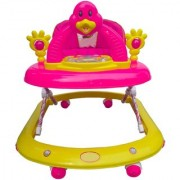 Oh Baby Baby Adjustable Musical With Light Square Tweety Play Tray Shape Pink Color Walker For Your Kid SE-W-65