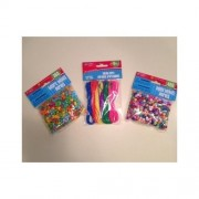 Pony Beads, Heart Beads and Lacing Cords Bundle