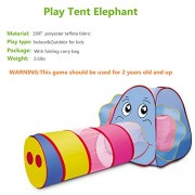 Play Tent Kids, Sonyabecca Playhouse para niñas con túnel interior y exterior (tamaño: 98''x 33 '')