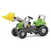 Rolly Toys 811465 - Veicolo a Pedali Junior RT, con Ruspa Junior, Verde