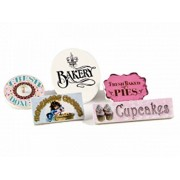 18 Inch Doll 5 Bake Shop Signs For Our Interchangeable Doll Shoppe! Buy The Queens Treasures Stand Separately And Other Signs To Create Many Doll Shops For American Girl Doll Accessories & Furniture