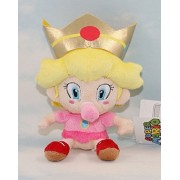 Super Mario Bros.baby Peach Princess Plush Toy Doll Kids Gift 15 Cm by handstiched