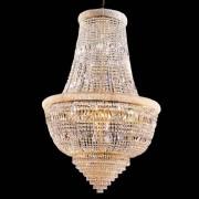 Luxus Kristall Kronleuchter Osaka Empire Korblüster 24K Gold Barock Deckenleu...