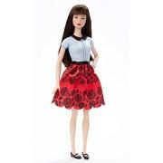 Barbie DGY61 - Fashionistas Floreale Rosso Rubino, Multicolore