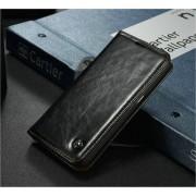 Samsung Galaxy S7 Edge rustiek leren boekhoesje zwart