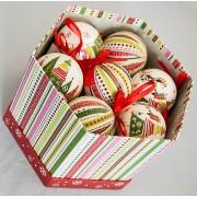 Karácsonyi gömbdísz Ø 75 mm 14 db dobozban KCG 079