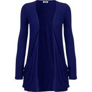 H&D Pour Cardigan Boyfriend à manches longues pour femme avec poches Tailles : 8–26 (L/XL (44–46), bleu roi)