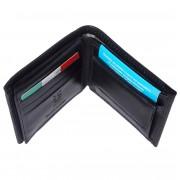 Florence Leather Market Portafoglio con portamonete da uomo (PF019B)