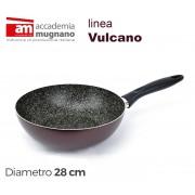 VUSLT28 Padella saltapasta antiaderente Accademia Mugnano linea Vulcano 28cm