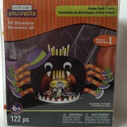 Halloween 3 D Structure Foam Activity Kit 122 Pieces Spider Eating Dracula Vampire