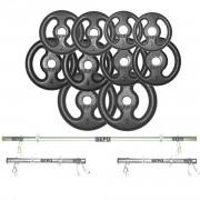 Kit Completo Para Fitness Anilhas e Barras