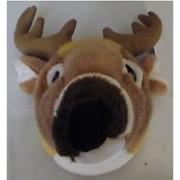 11 White Tailed Deer Head Plush Stuffed Animal Toy