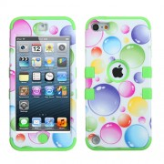 Funda Protector Triple Layer Apple Ipod Touch 5G / 6G Bola Colores / Verde