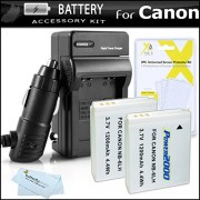 2 Pack of Replacement Batteries For Canon NB-6LH NB-6L 1200MAH Each + 110/220 Ac/Dc Rapid Charger For Canon Powershot SX500 IS SX500IS S95 ELPH 500 HS SX260 HS SX260HS SX280 HS SX280HS SX510 HS SX170 IS S120 SX600 HS SX700 HS Digital Camera +