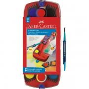 Acuarele + pensula, 24 culori/set, FABER CASTELL Connector