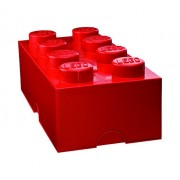 Lego Storage Brick Lunch Box 8, Plastica, Rosso, 25x25x18 cm