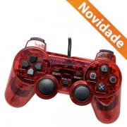 CONTROLE JOYSTICK PARA PS2 TRANSPARENTE