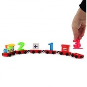 Number and Math Train Set - 20 Pieces - Includes 7 Train Cars 10 Numbers Plus Minus and Equals Signs - By Dazzling Toys
