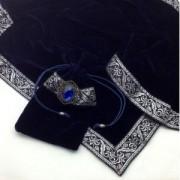 Mysterious purple / purple self-fabric pouch TC055 of cross tarot soft velvet mystery (japan import)