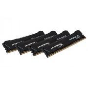 HyperX Savage HX430C15SBK4/16 XMP Memoria da 16 GB, 3000 MHz, DDR4, CL15 DIMM, Kit (4x4 GB), Nero