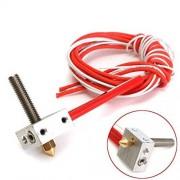 ILS Assembled Aluminum Heating Block para 3d printer Extruder Hot End 1.75 mm MK8 0.4 mm Nozzle