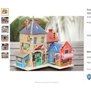 Di Grazia 3D British House Wooden Puzzle, 27 pcs Model Building Kit, Educational Jigsaw Puzzles for Kids - Age 6 and above