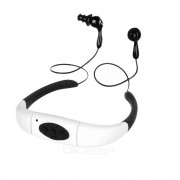 USB 2.0 auricular impermeable IPX8 reproductor de mp3 w / 8GB - negro + blanco