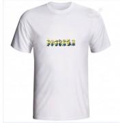 Camiseta Adulto Branca 100% Algodão Malha 30.1 Estampada Minions