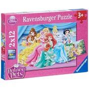 Ravensburger 07580 - Disney Princess Palace Pets Puzzle, 2 x 12 Pezzi