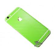 """Folie Iphone 6 / Iphone 6S """"Carbon fiber gear"""" TIP CARBON LIME GREEN + GRATUIT FOLIE PROTECTIE ECRAN"""