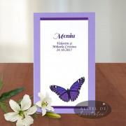 Meniu nunta fluture A016c
