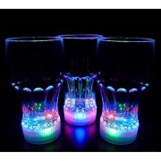 Theme My Party Light up Cola Glasses Flashing Blinking LED Cups Barware Bell Soda Glass