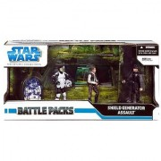 Star Wars Clone Wars Exclusive Action Figure Battle Pack Assault on the Shield Generator